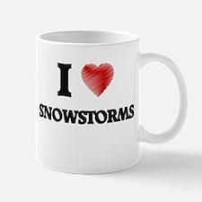 I love Snowstorms Mugs