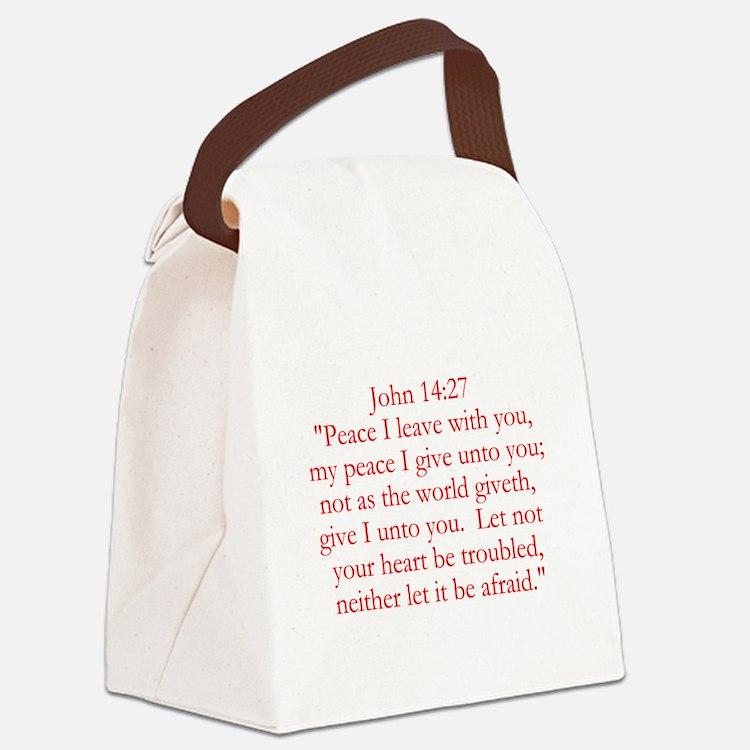 John 14:27 Canvas Lunch Bag