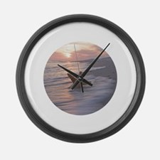 Funny Red starfish Large Wall Clock