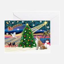 XmasMagic/Shiba Inu Greeting Card