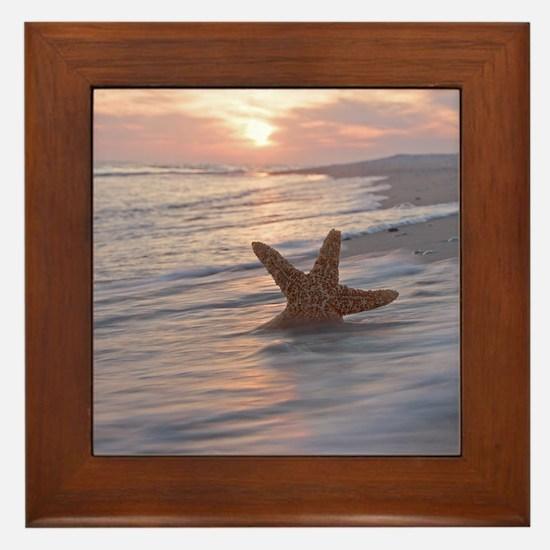 Unique Starfish Framed Tile