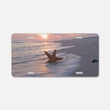 Funny Orange beach Aluminum License Plate