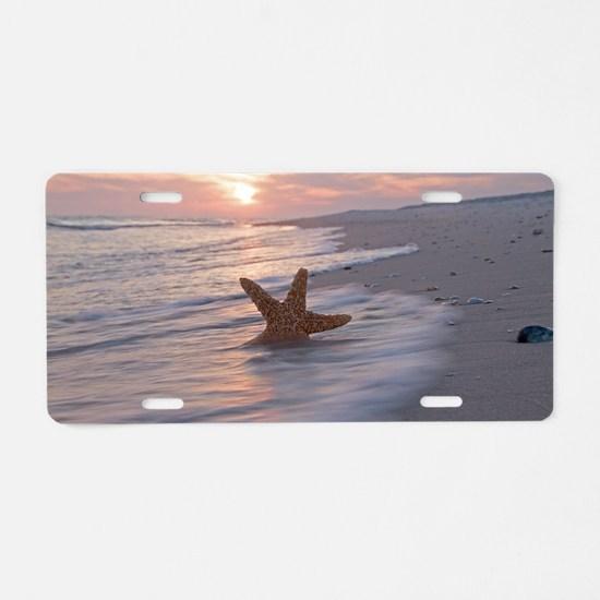 Funny Starfish Aluminum License Plate