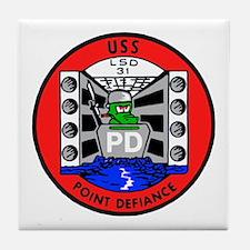 USS Point Defiance (LSD 31) Tile Coaster