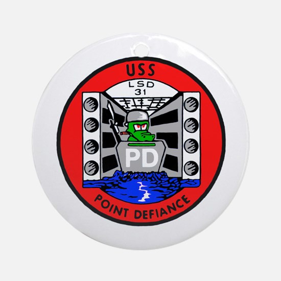 USS Point Defiance (LSD 31) Ornament (Round)