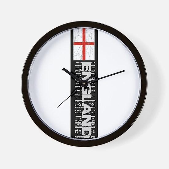 Vertical flag black Wall Clock