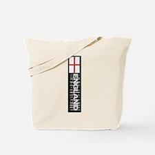 Vertical flag black Tote Bag