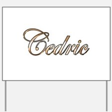 Gold Cedric Yard Sign