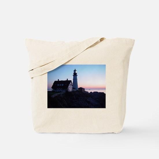 Portland Headlight Daybreak Tote Bag