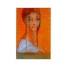 Odilon Redon Veiled woman Rectangle Magnet