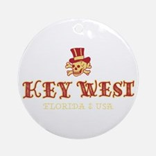 Key West Pirate - Round Ornament