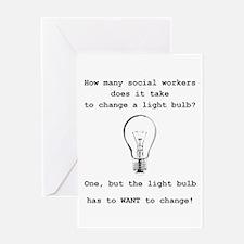 Cute Light bulbs Greeting Card