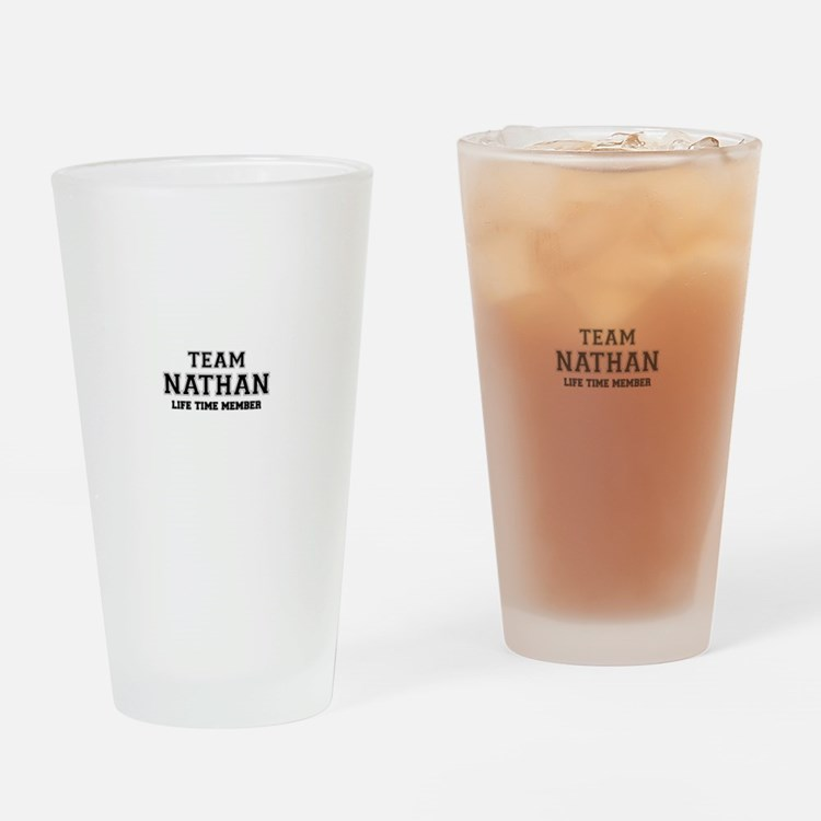 Team NATHAN, life time member Drinking Glass