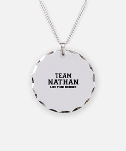 Team NATHAN, life time membe Necklace Circle Charm