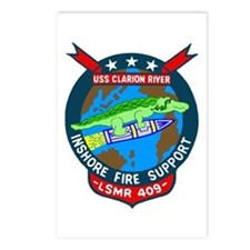 USS Clarion River (LSMR 409) Postcards (Package of