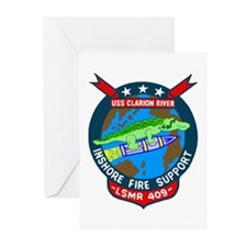 USS Clarion River (LSMR 409) Greeting Cards (Pk of