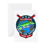 USS Clarion River (LSMR 409) Greeting Card