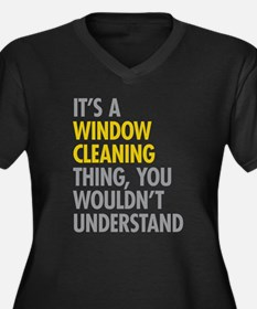 Window Cleaning Plus Size T-Shirt