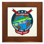USS Clarion River (LSMR 409) Framed Tile
