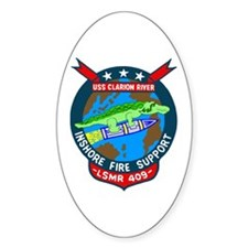USS Clarion River (LSMR 409) Oval Decal