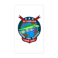 USS Clarion River (LSMR 409) Rectangle Decal