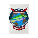 USS Clarion River (LSMR 409) Rectangle Magnet (100