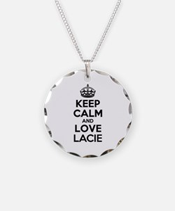 Keep Calm and Love LACIE Necklace Circle Charm