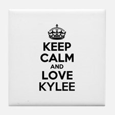 Keep Calm and Love KYLEE Tile Coaster