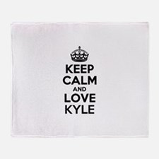 Keep Calm and Love KYLE Throw Blanket