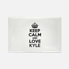 Keep Calm and Love KYLE Magnets