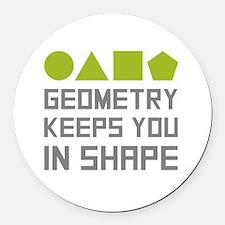 Cute Geometry Round Car Magnet