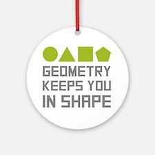 Cute Geometry teacher Round Ornament