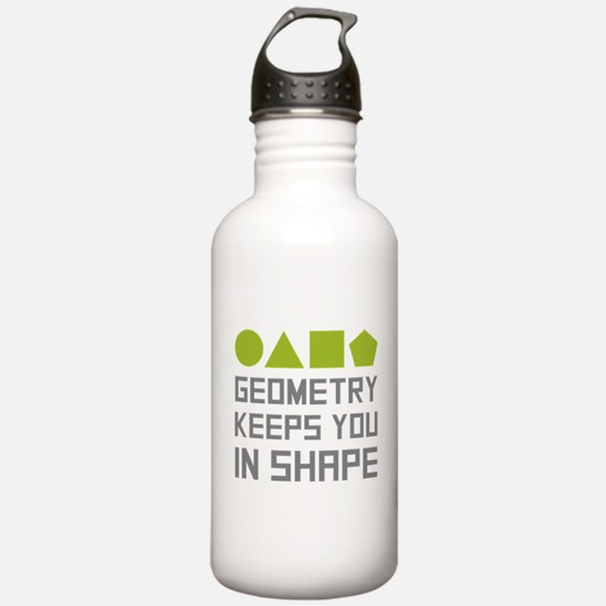 Geometry Shapes Water Bottle