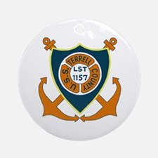USS Terrell County (LST 1157) Ornament (Round)