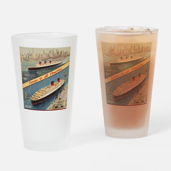 Unique Ocean liners Drinking Glass