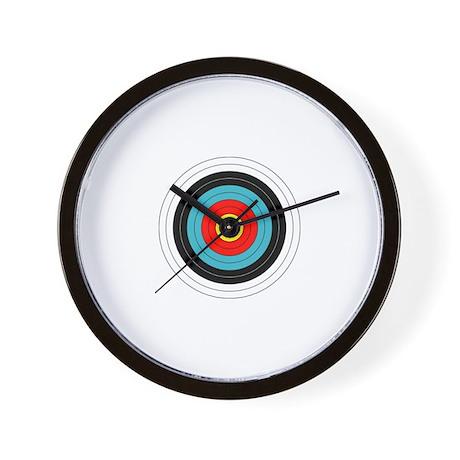cute archery target wall clock