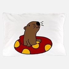 Cute Funny Tubing Otter Pillow Case