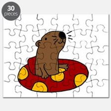 Cute Funny Tubing Otter Puzzle
