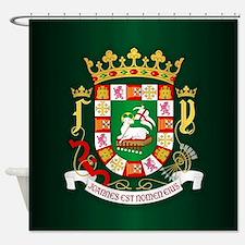 Puerto Rico COA Shower Curtain