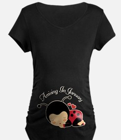 January Due Date Maternity Maternity T-Shirt