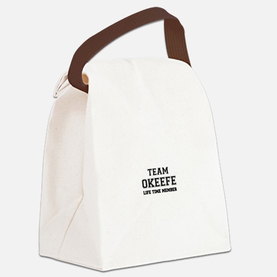 Team OKEEFE, life time member Canvas Lunch Bag