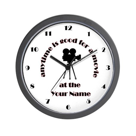 Customized Theater Decor Wall Clock