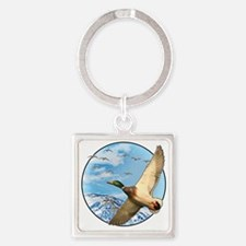 Waterfowl 2 Square Keychain