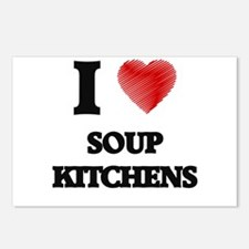 I love Soup Kitchens Postcards (Package of 8)