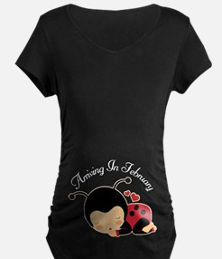 February Due Date Pregnancy Maternity T-Shirt