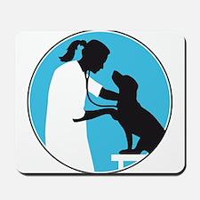 female veterinarian Mousepad