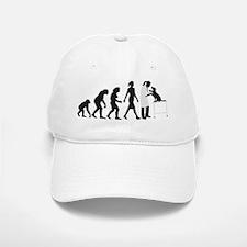 evolution of man female veterinarian Baseball Baseball Baseball Cap