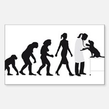 evolution of man female veterinarian Decal