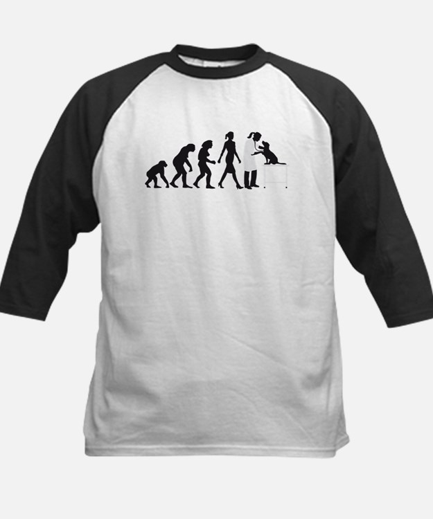evolution of man female veterinarian Baseball Jers