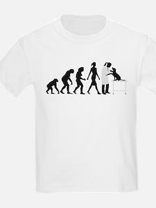 evolution of man female veterinarian T-Shirt